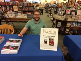 Writer Randal Eldon Greene signing his novel at Barnes & Noble in Sioux City
