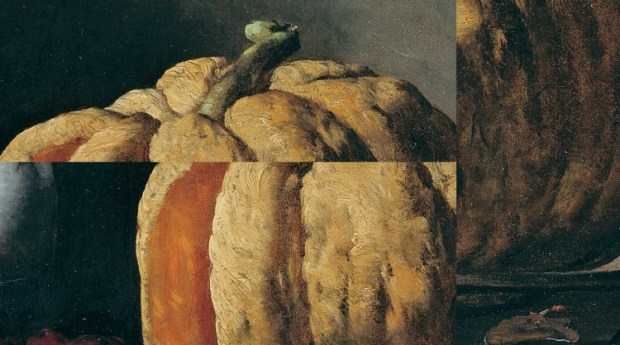 Still Life with Pumpkins abstract art for Irony, flash fiction by Randal Eldon Greene