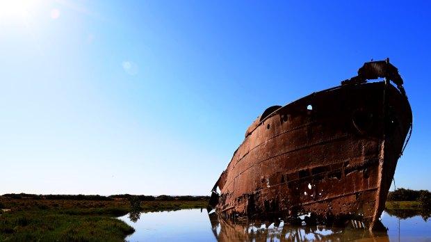 Rusting Sunken Ship