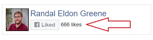 Randal Eldon Greene Facebook liked by 666 people