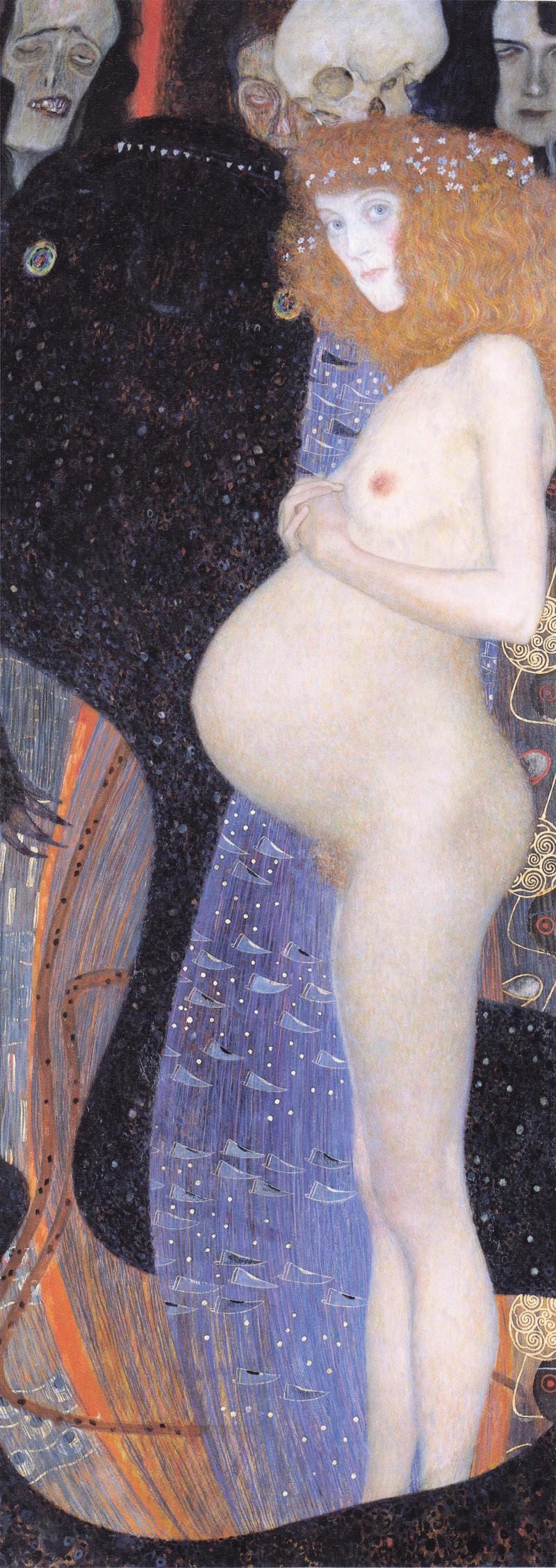 Die Hoffnung (Hope 1), 1903 oil painting by Gustav Klimt