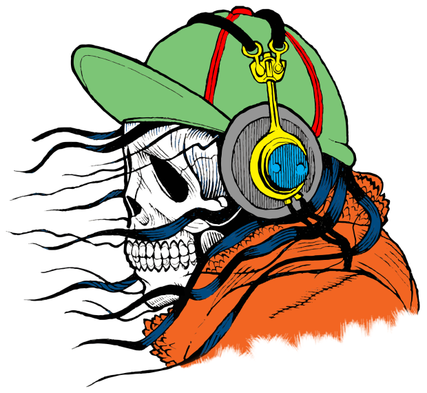 Skeleton with Headphones