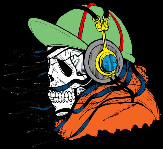 Skeleton with Headphones