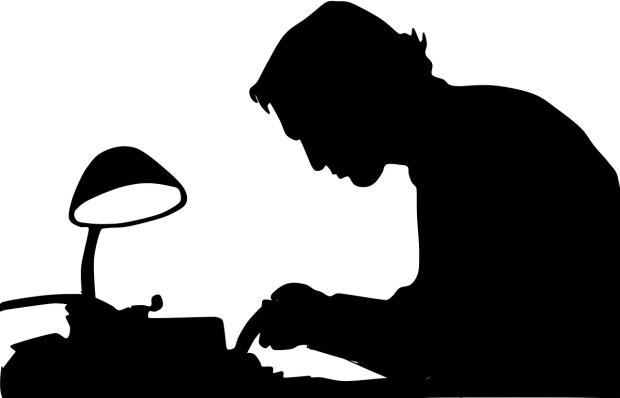 writer silhouette
